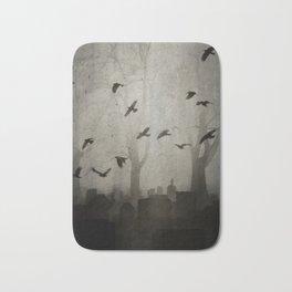 Gothic Crows Eerie Ceremony Bath Mat