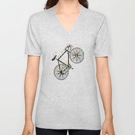 Racing Bike Colorful Colors Cycling Art Unisex V-Neck
