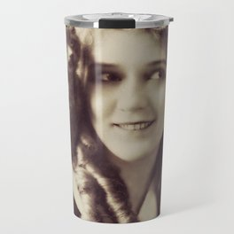 Mary Pickford - Vintage Lady with kitten Travel Mug