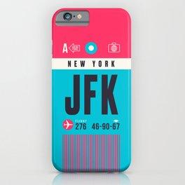 Baggage Tag A - JFK New York John F. Kennedy USA iPhone Case