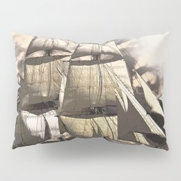 sailing ship vintage Pillow Sham