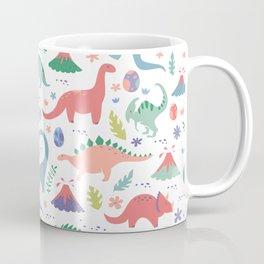 Dinos + Volcanoes - Coral Coffee Mug