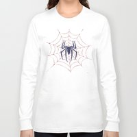 spider Long Sleeve T-shirts featuring Spider by Vickn