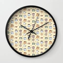 Cozy Coffee Wall Clock