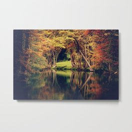 From the Still River, Magic Flowed Metal Print