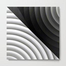 Modern CIRCULAR Black and White Design Metal Print