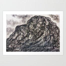 Grey Moutain by Gerlinde Streit Art Print