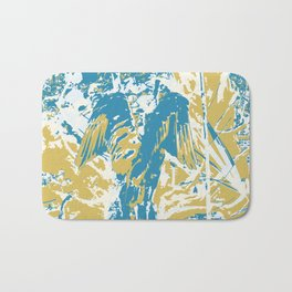 Wings, Blue & Yellow Bath Mat