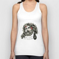 jesus Tank Tops featuring Jesus by mothermary