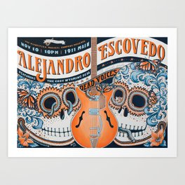 Alejandro Escovedo with The Dead Voices and The Cody Wyoming Deal Art Print