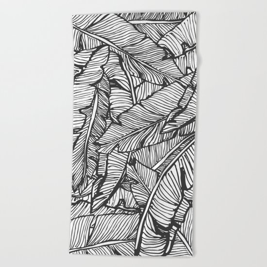 Black & White Jungle #society6 #decor #buyart Beach Towel