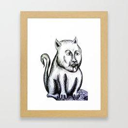 Cat being Framed Art Print