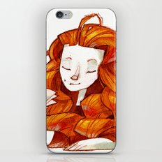 Red hair muse iPhone & iPod Skin