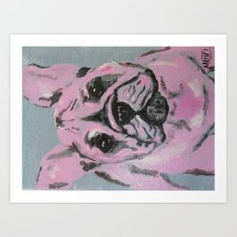"""take me home"" Frenchie Art Print"