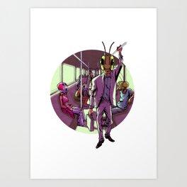 Subway Bugway Art Print