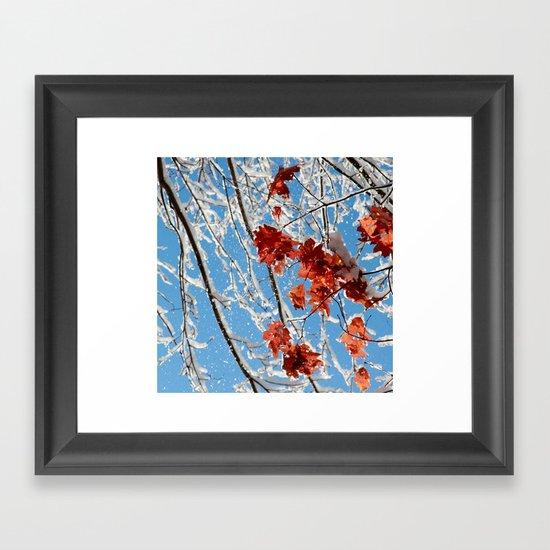 Seasons Mingle Framed Art Print