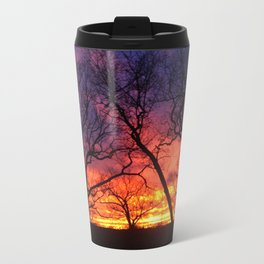 Silhouette Sunset  Travel Mug