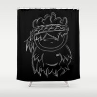 ganesh Shower Curtains featuring GANESH by Bowo baghaskara