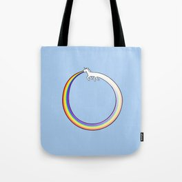 Ouroboros Unicorn Rainbow Vomit Tote Bag