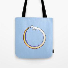 Ouroboros Unicorn Rainbow Vomit Tote Bag