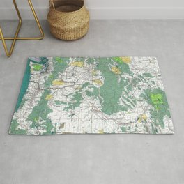 Pacific Northwest Map Rug