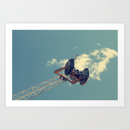 Hanging on the clouds Art Print
