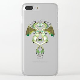 Earthen Love Dragons Clear iPhone Case
