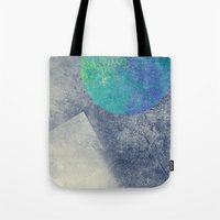 the moon Tote Bags featuring moon by Claudia Drossert