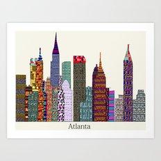 Atlanta city  Art Print