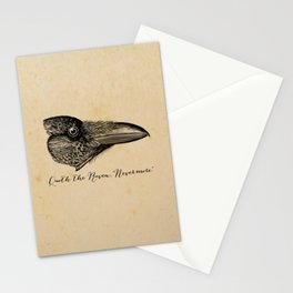 Nevermore - Edgar Allan Poe - Quoth the Raven Stationery Cards