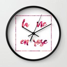 La vie en rose 2 Wall Clock