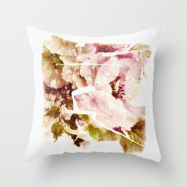 slashed floral Throw Pillow