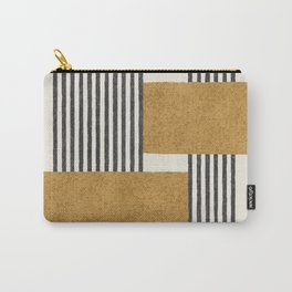 Stripes and Square Composition - Abstract Carry-All Pouch