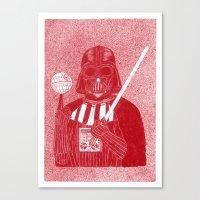 darth Canvas Prints featuring Darth Vader by David Penela