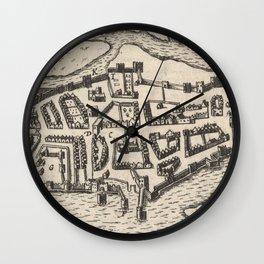 Vintage Map of Limerick Ireland (1618) Wall Clock