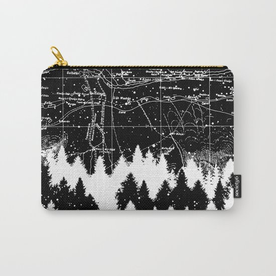 Map Silhouette Square Carry-All Pouch