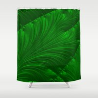renaissance Shower Curtains featuring Renaissance Green by Charma Rose