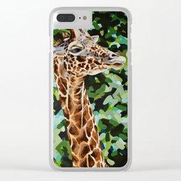 Masai Giraffe Clear iPhone Case
