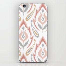 Peachy Ikat iPhone Skin