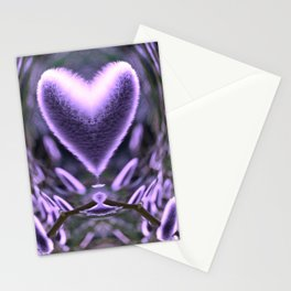 Sprouting Love (violet/green) Stationery Cards
