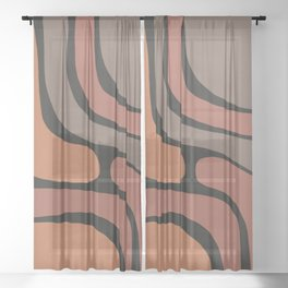 Shape Study V Sheer Curtain