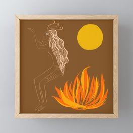 Holika Dahan (Holi Fire) Framed Mini Art Print