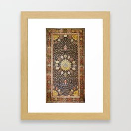 Ardabil Persian Safavid Carpet Framed Art Print