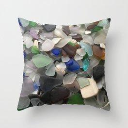 Sea Glass Assortment 1 Throw Pillow