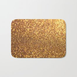 Golden Glitter Shiny Bath Mat