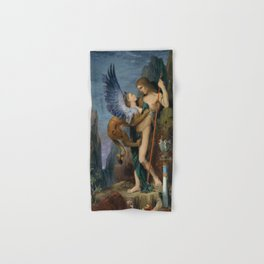 Gustave Moreau - Oedipus And The Sphinx - Digital Remastered Edition Hand & Bath Towel