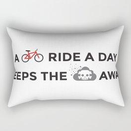 A bike ride a day keeps the pollution away Rectangular Pillow