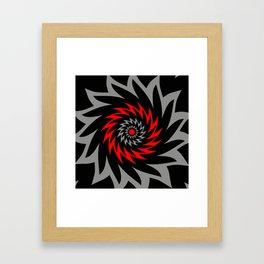 FLAMING VORTEX Framed Art Print