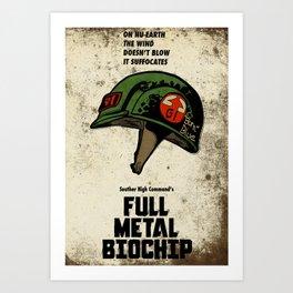 Full Metal Biochip Art Print