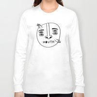 mouth Long Sleeve T-shirts featuring Mouth by Erik Walker